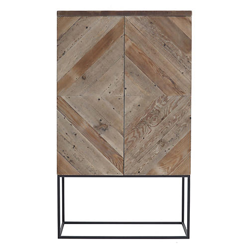 Cashel Metal-Base Cabinet, Natural