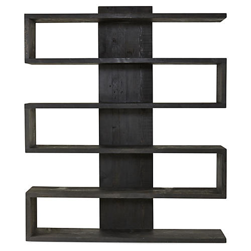Harrison Bookcase, Blackwash