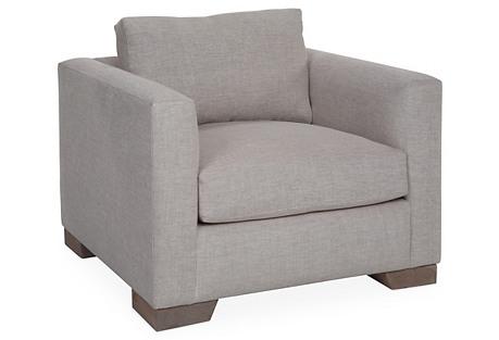 Aldous Club Chair, Natural