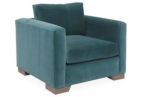 Aldous Club Chair, Green