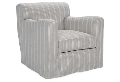 Presley Slipcovered Chair, Chambray