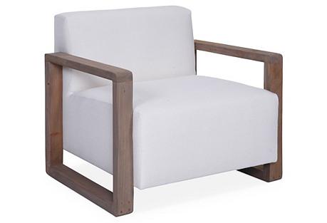 Burk Club Chair, White