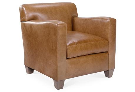 Presley Club Chair, Tobacco