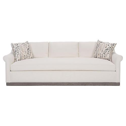 """Weaver 100"""" Sofa, Ivory Linen"""
