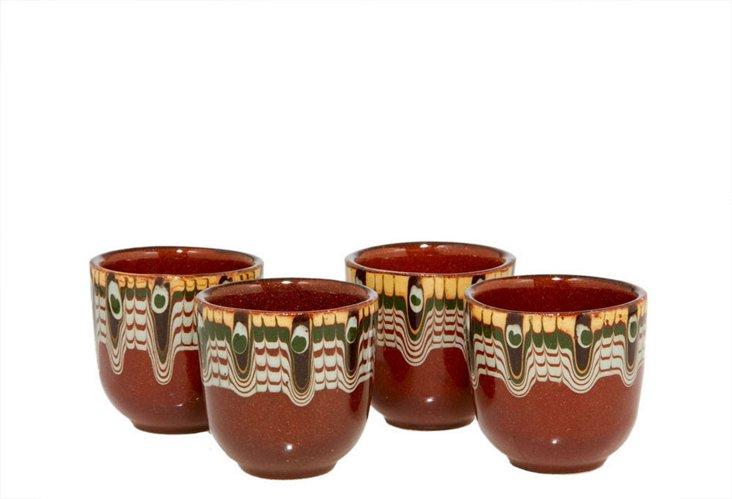 Set of 8 Brandy Cups, Earth