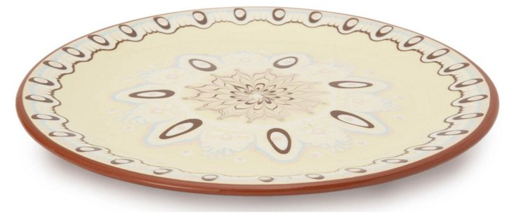 Mandala Dinner Plate, Mimosa