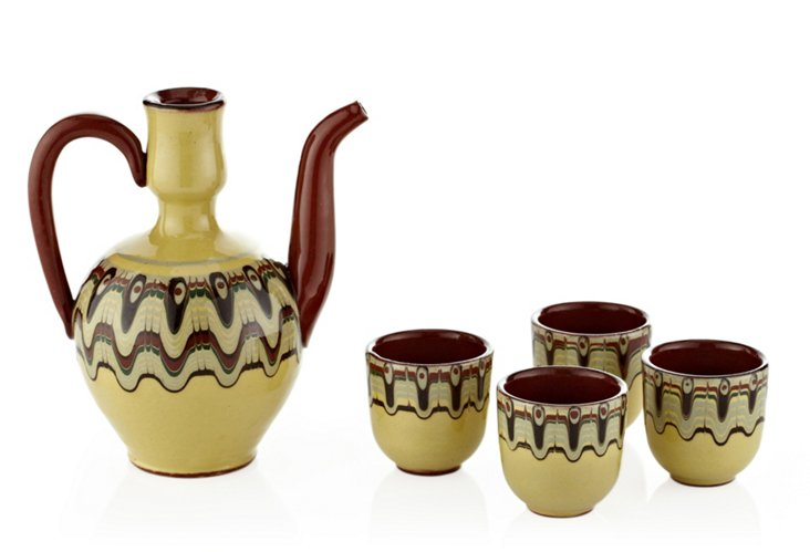 Ritual Toasting Pitcher & 4 Cup Set