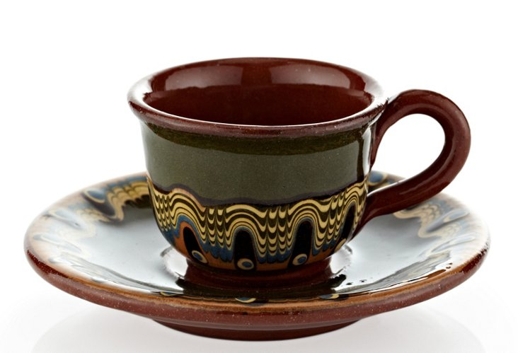 Set of 4 Espresso Cups, Forest