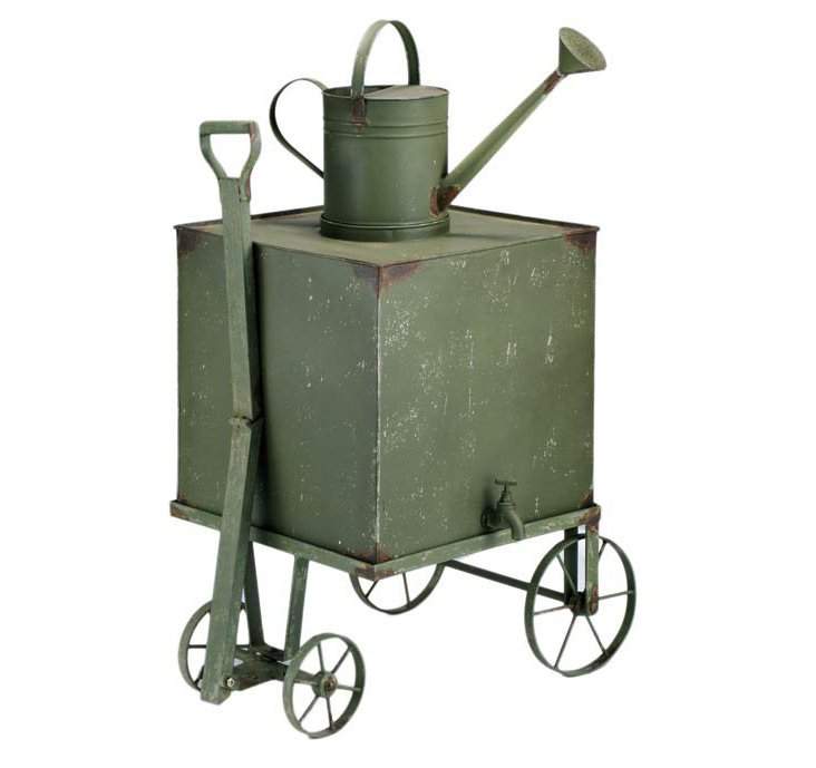 Iron Garden Cart, Moss Green