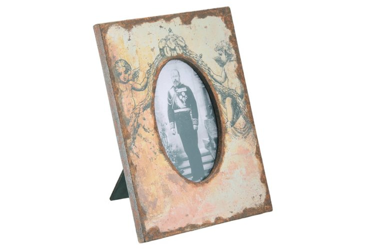 5x7 Angels Distressed Frame