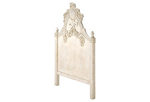 Wooden Brocade Headboard, Twin