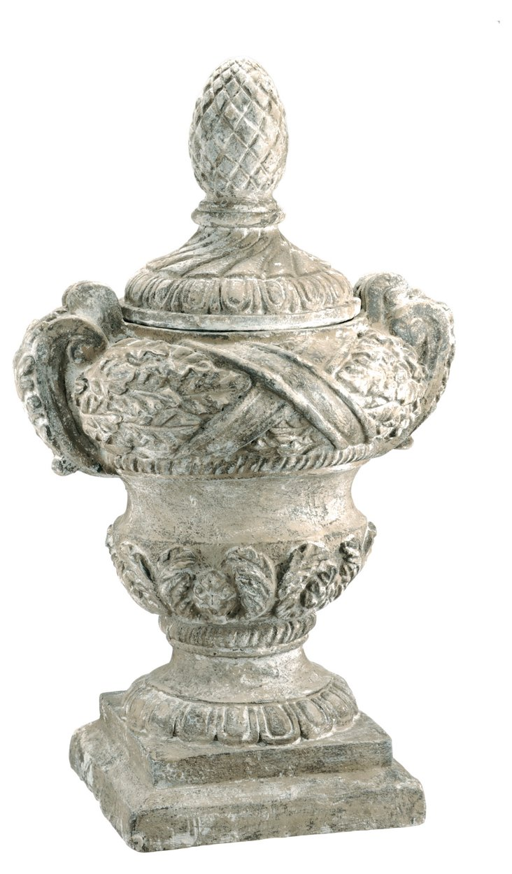 Resin Urn w/ Cover