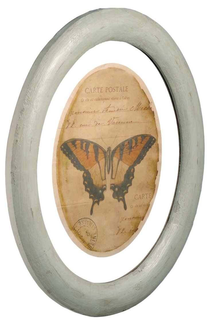 Wood Framed Butterfly Print