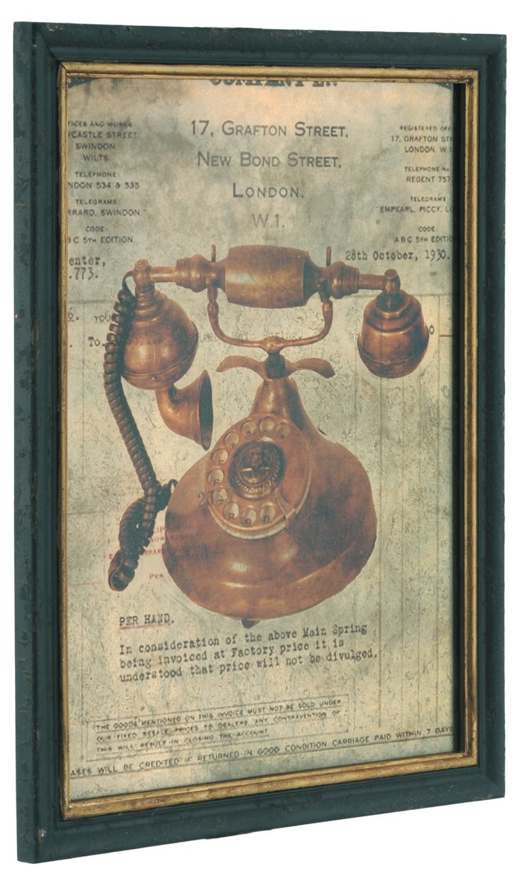 Wood Plaque, Phone
