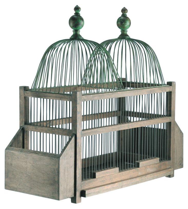 Iron & Wood Birdcage
