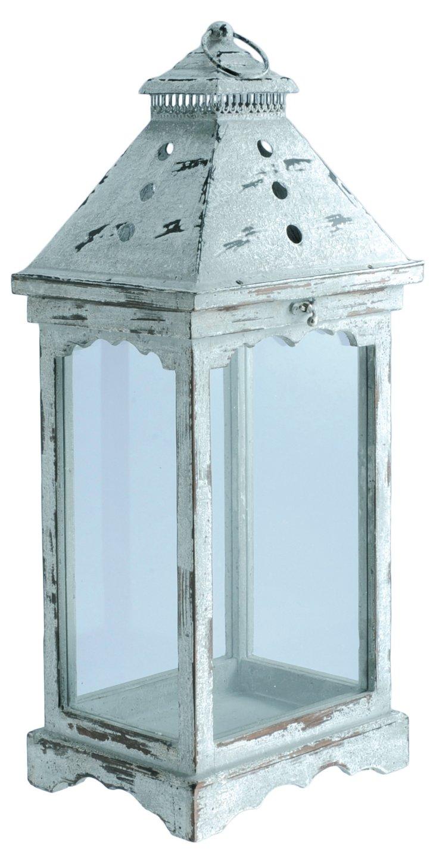 "25"" Wood & Glass Lantern"