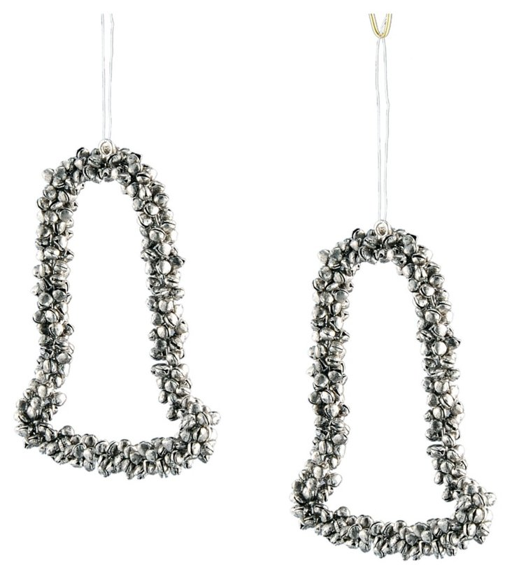 S/2 Bell Ornaments, Silver