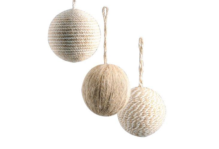 "S/3 3"" Ball Ornaments"