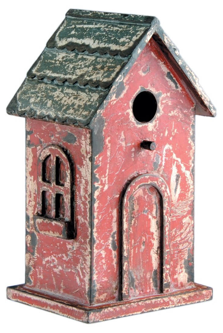 Wood Birdhouse, Red