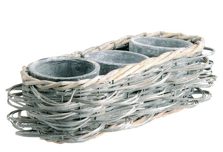 Willow & Clay Three-Pot Set