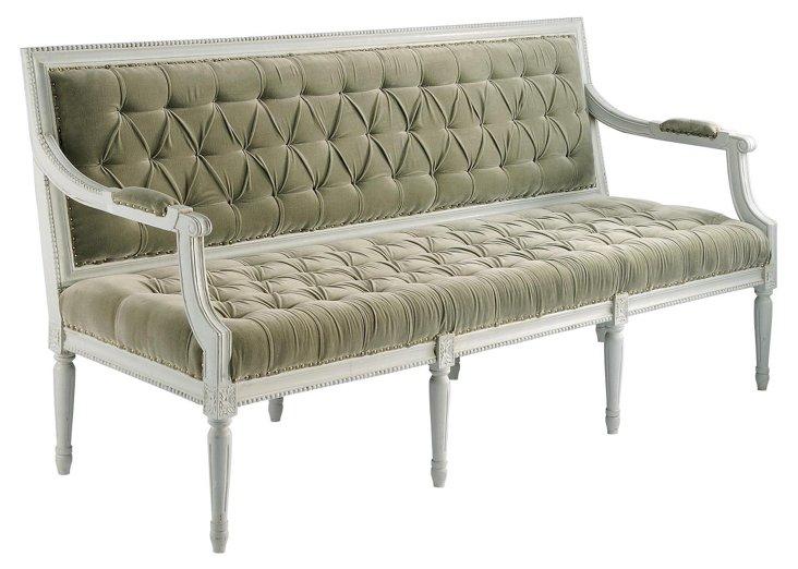 Upholstered Regence Bench