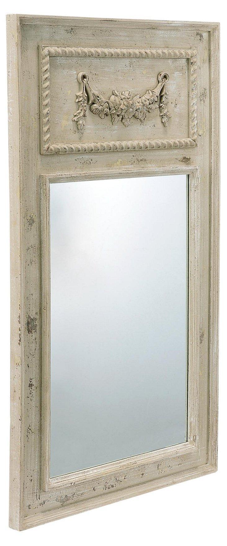 Georgian Mirror, Antiqued White
