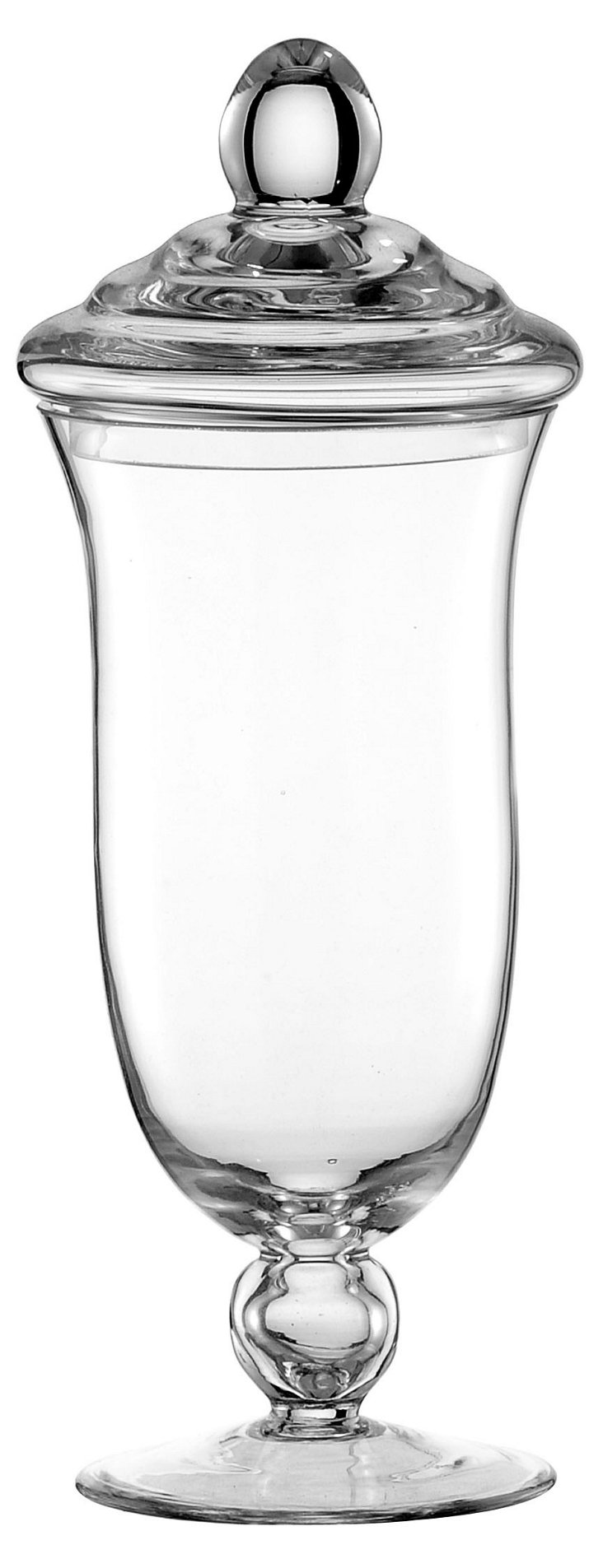 """12"""" Fluted Glass Canister"""