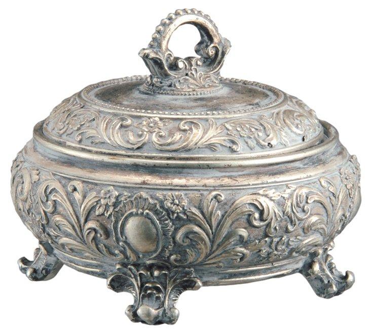 Ornate Jewelry Box w/ Handle