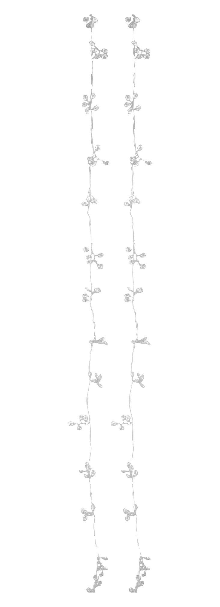 S/2 Beaded Garlands, Silver