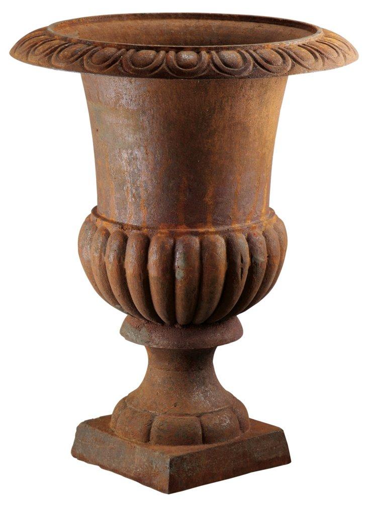 """5"""" Mini Cast Iron Urn, Rust"""