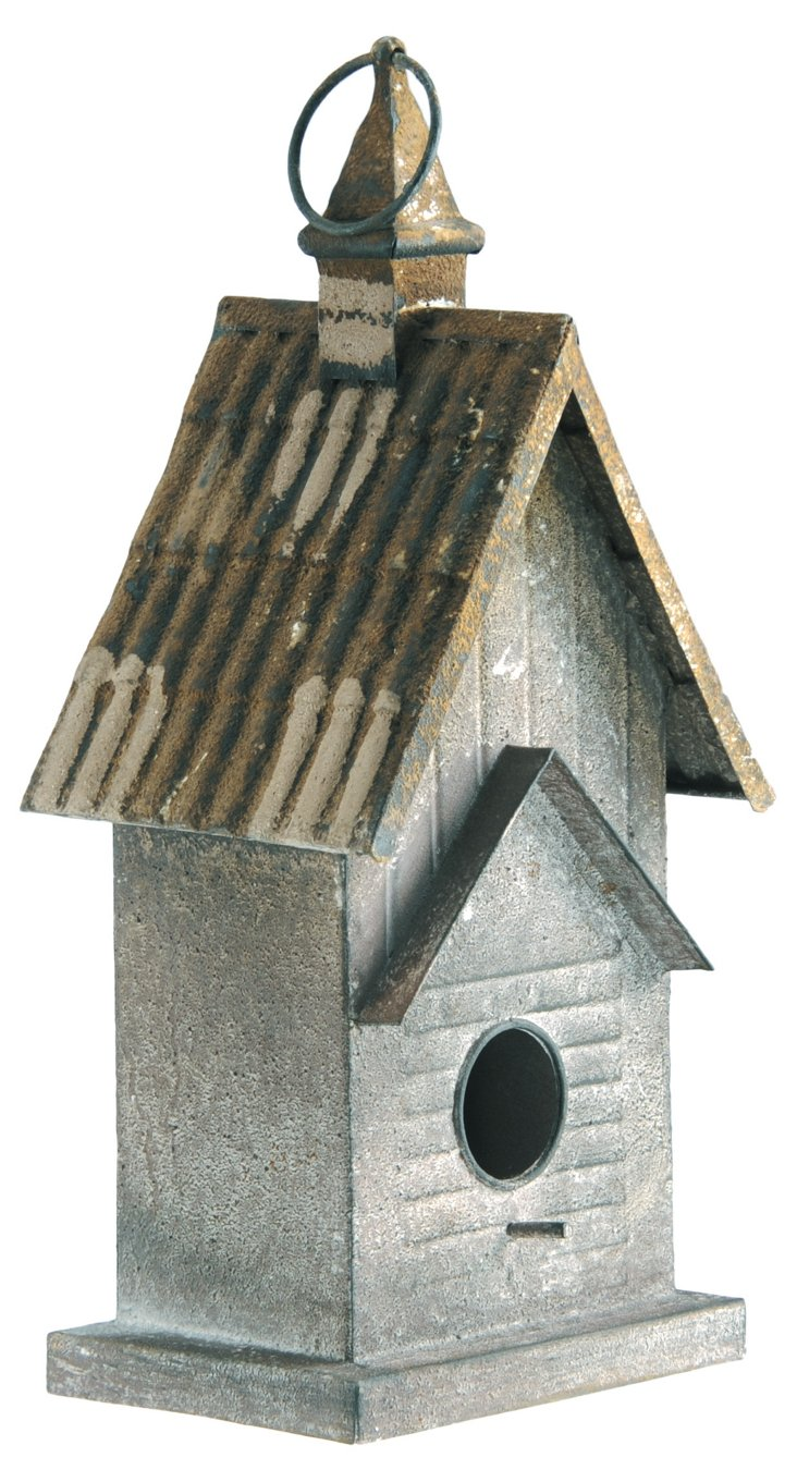 Metal Stick Birdhouse
