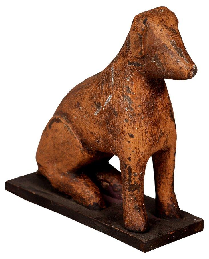 Wooden Dog Objet