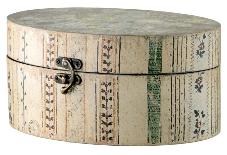 Weathered Oval Hatbox