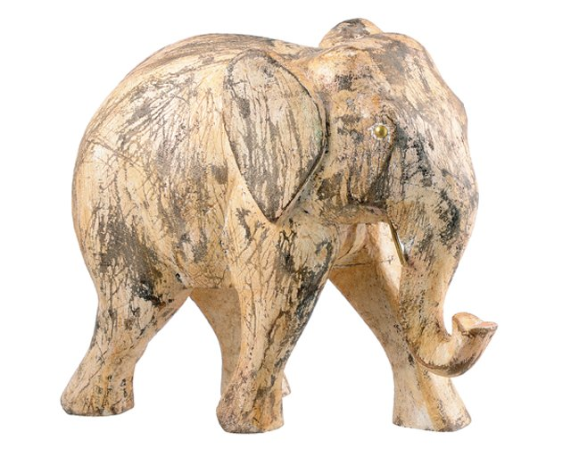 Asst. of 2 Elephant Objets, Brown