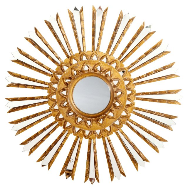Nahla Wall Mirror, Gold