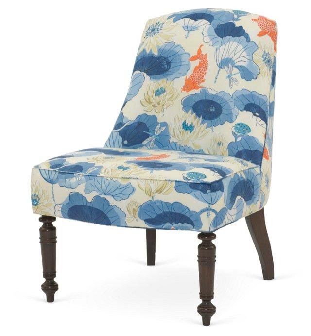 Adalyn Accent Chair, Cobalt