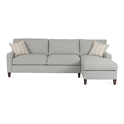 Liza Right-Facing Sectional, Gray