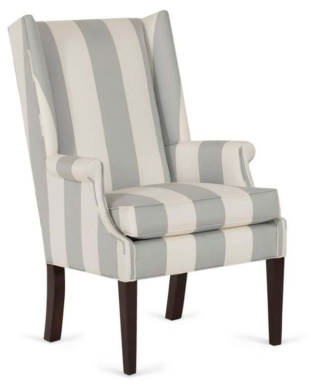 Abbeline Striped Wingback Chair