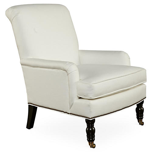 Abigail Accent Chair, White