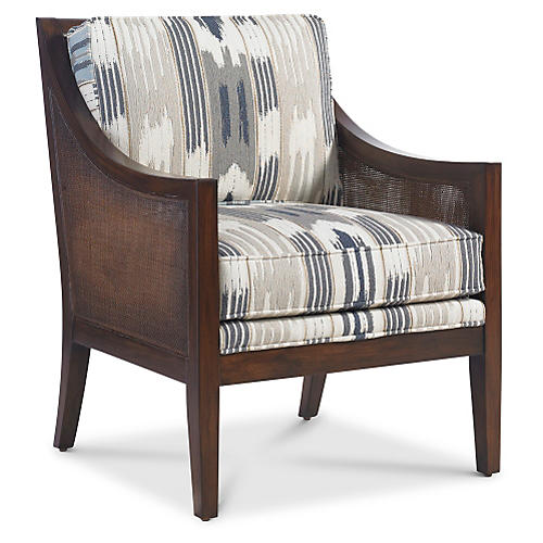 Windwood Chair, Smoke/Slate Ikat