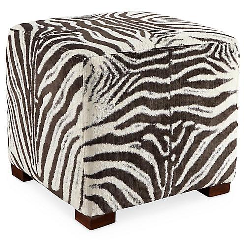 Canto Ottoman, Cocoa Zebra Stripe