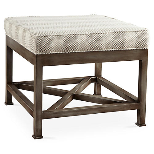 Rivello Upholstered Ottoman, Natural