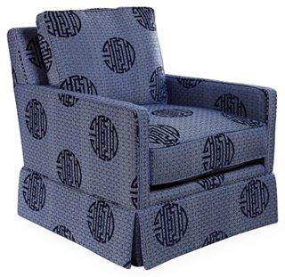 Avon Skirted Club Chair   Club Chairs   Chairs   Living Room   Furniture |  One Kings Lane