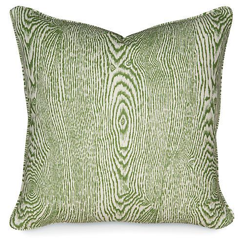 Wood Leaf 20x20 Pillow, Green
