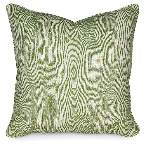 Wood Leaf 20x20 Pillow, Green