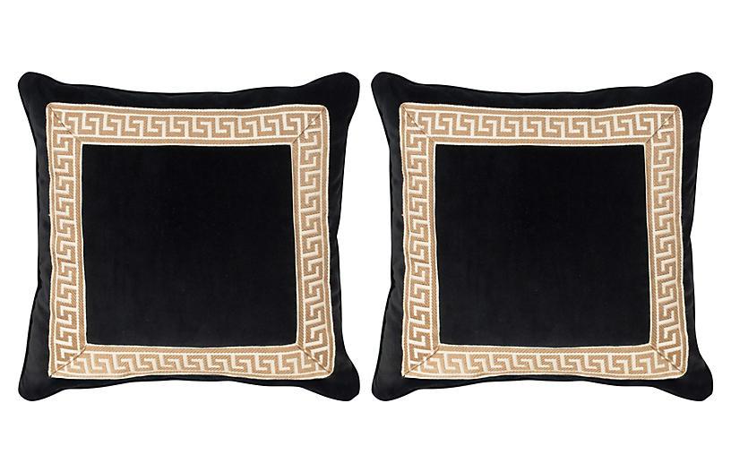 S/2 Robertson 20x20 Pillows, Black