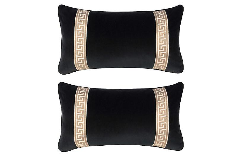 S/2 Robertson 12x23 Pillows, Black