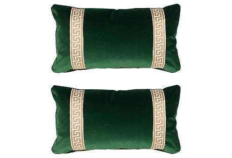 S/2 Robertson 12x23 Pillows, Emerald