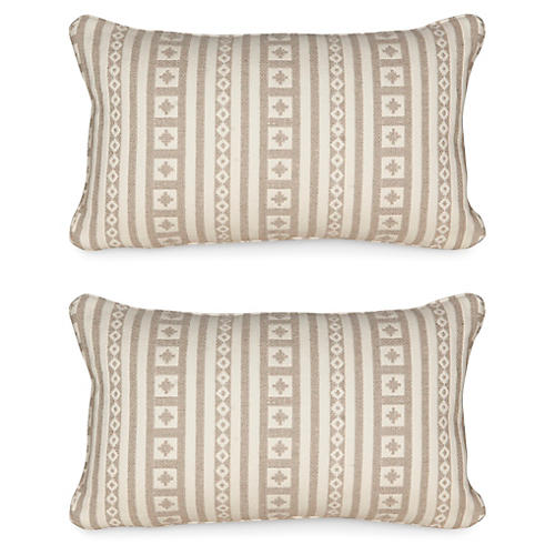 S/2 Aspen Lodge 12x20 Pillows, Tan