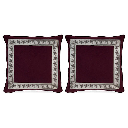 S/2 Remix Canne 20x20 Pillows, Purple